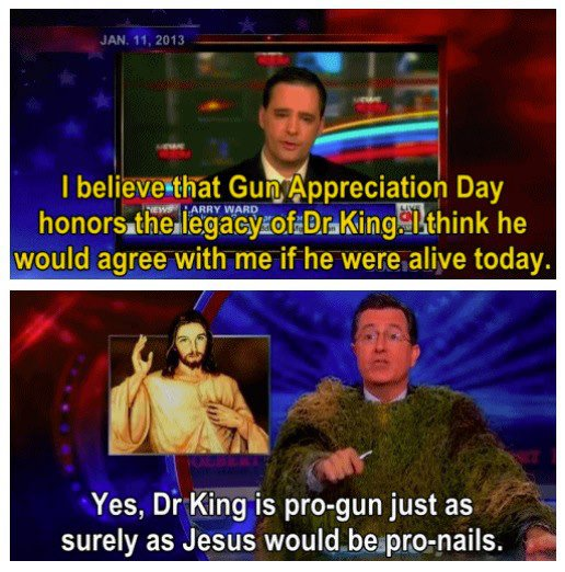 Colbert on Gun Appreciation