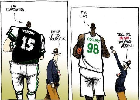 Tebow Collins Cartoon